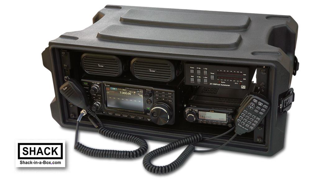 An amateur radio communications go box